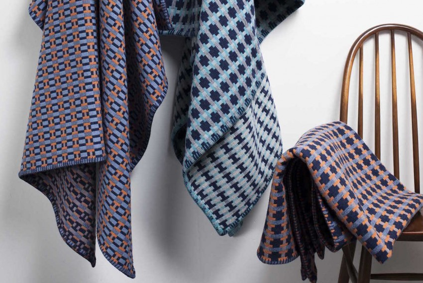 Shop Heather Shields - Woven Puzzle Blanket - Campaign Images
