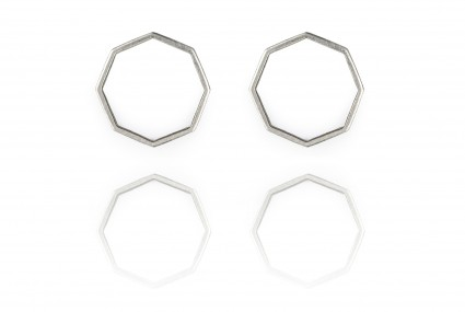 Scarlett Cohen French Octagon Studs silver