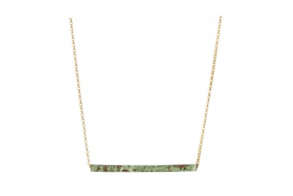Scarlett Cohen French Posh Pipes Pendant gold chain