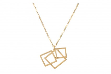Scarlett Cohen French Square Disarray Pendant Gold