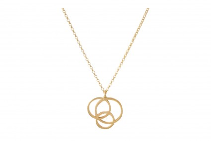 Scarlett Cohen French Gold Circle Disarray Pendant