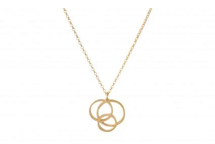 Scarlett Cohen French Gold Circle Disarray Pendant