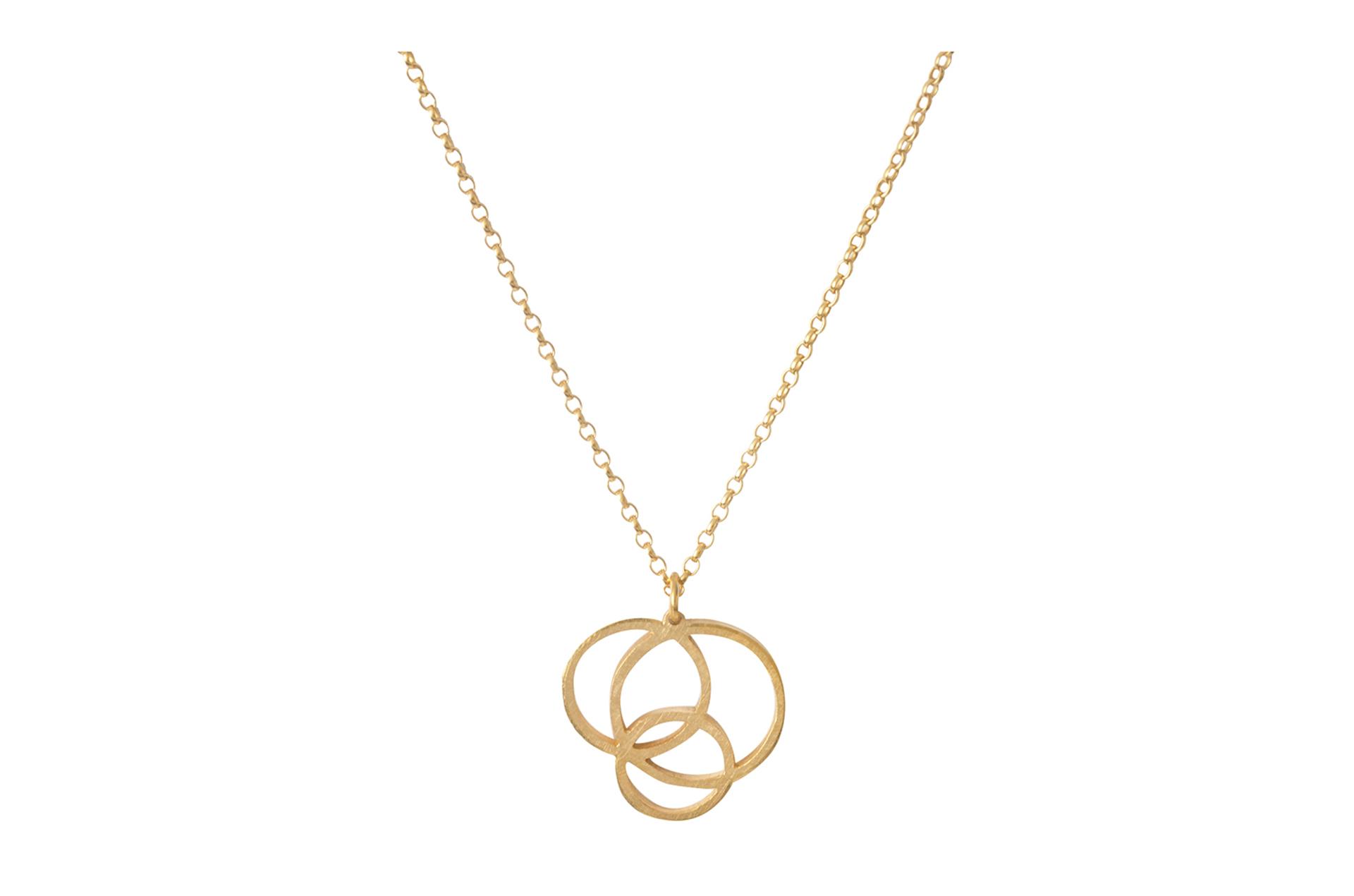Gold Circle Disarray Pendant
