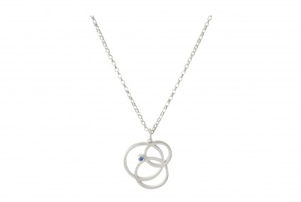 Scarlett Cohen French Silver Circle Disarray Pendant