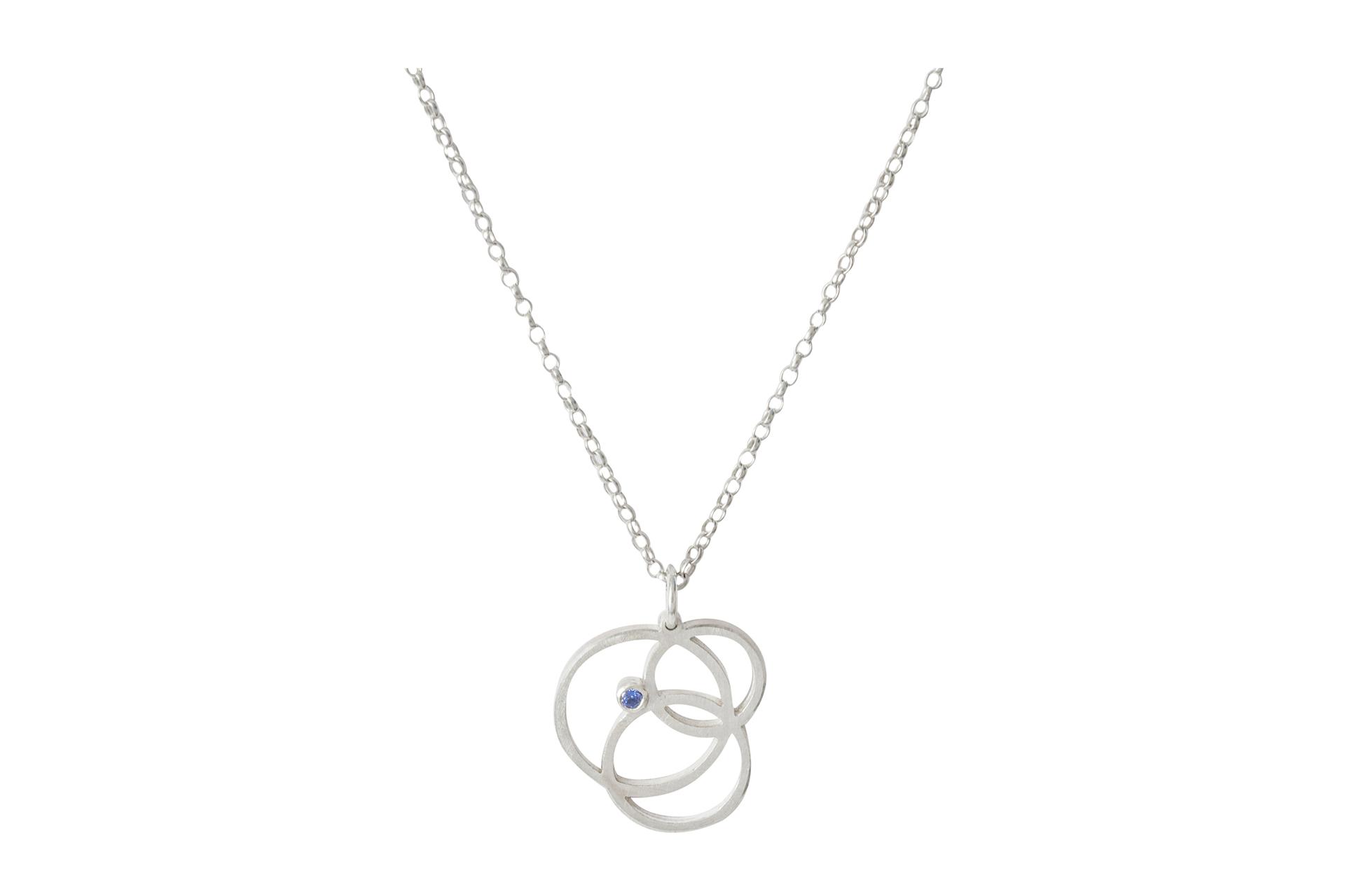 Silver Circle Disarray Pendant