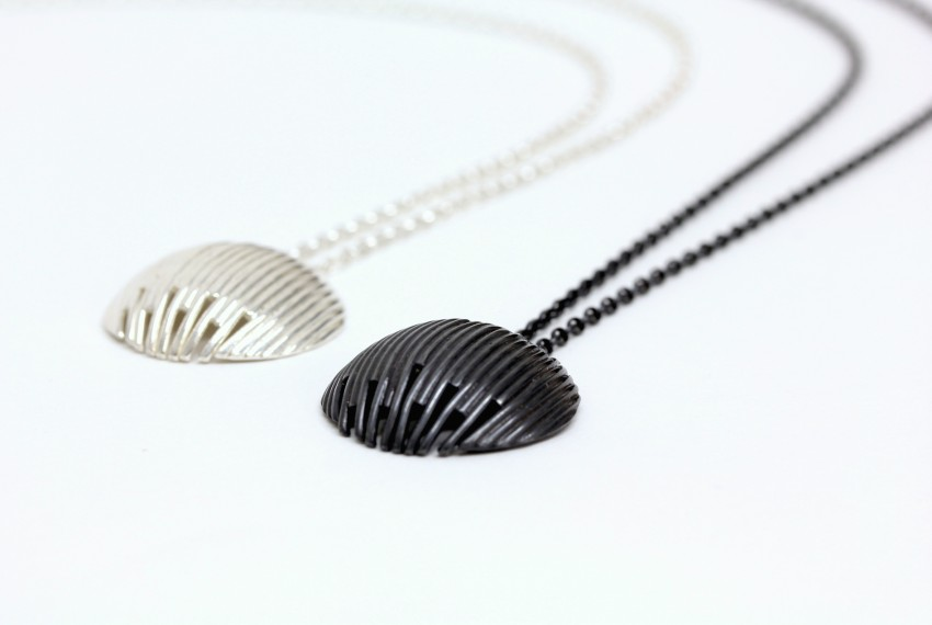 Tracy Wilson Identity Pendant Silver and Oxidised Silver