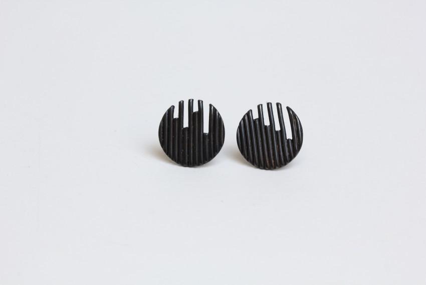Tracy Wilson Identity Stud Earrings Oxidised Silver