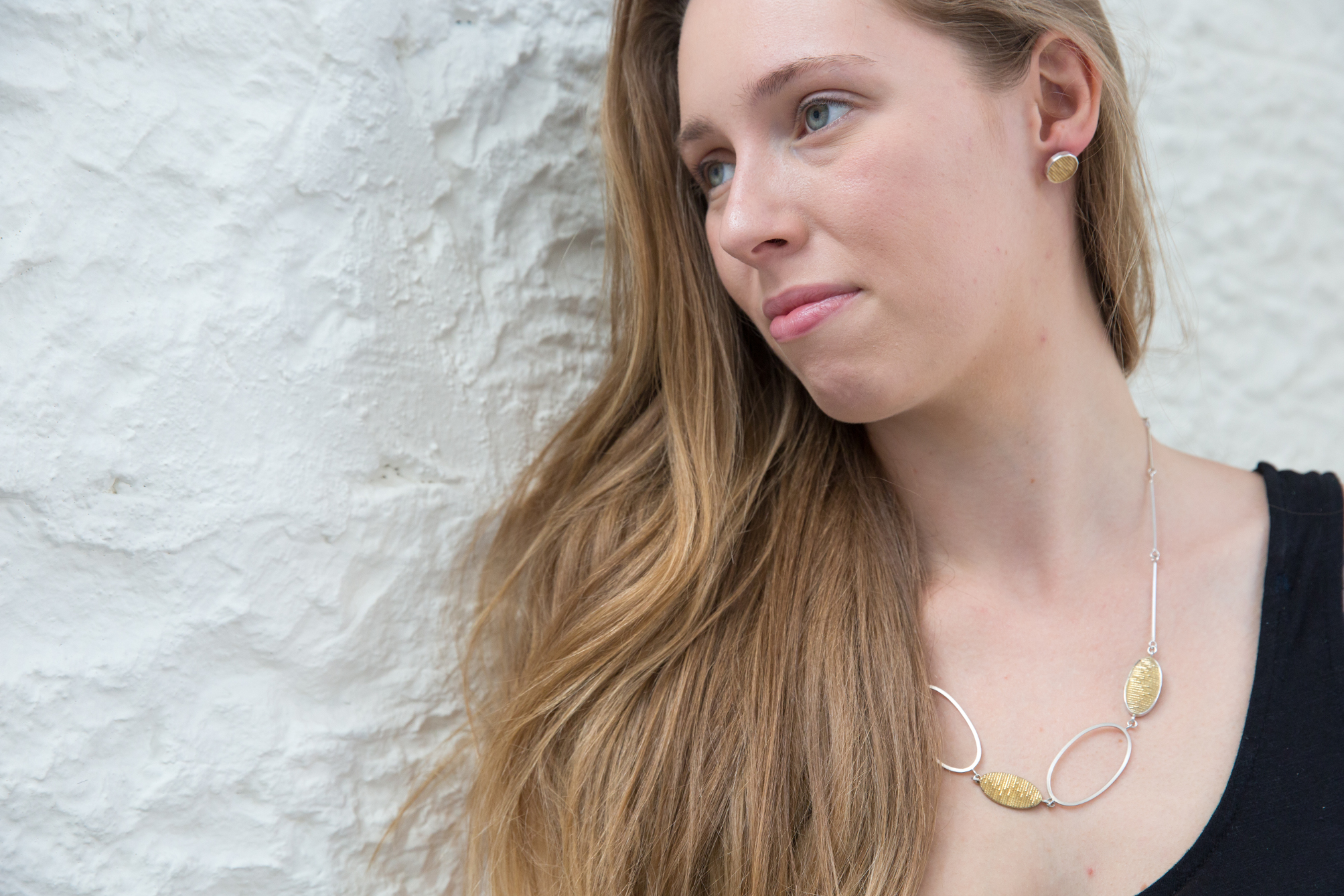 Transmission Necklace & 12-sided Earrings