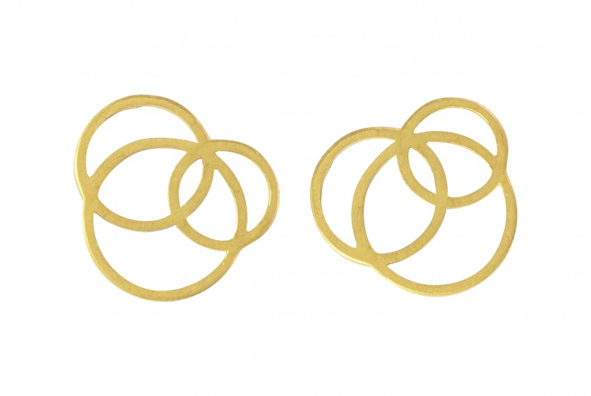 Scarlett Cohen French Circle Disarray Earrings Gold