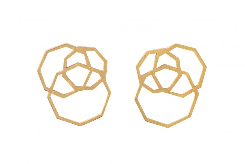 Scarlett Cohen French Octagon Studs Gold