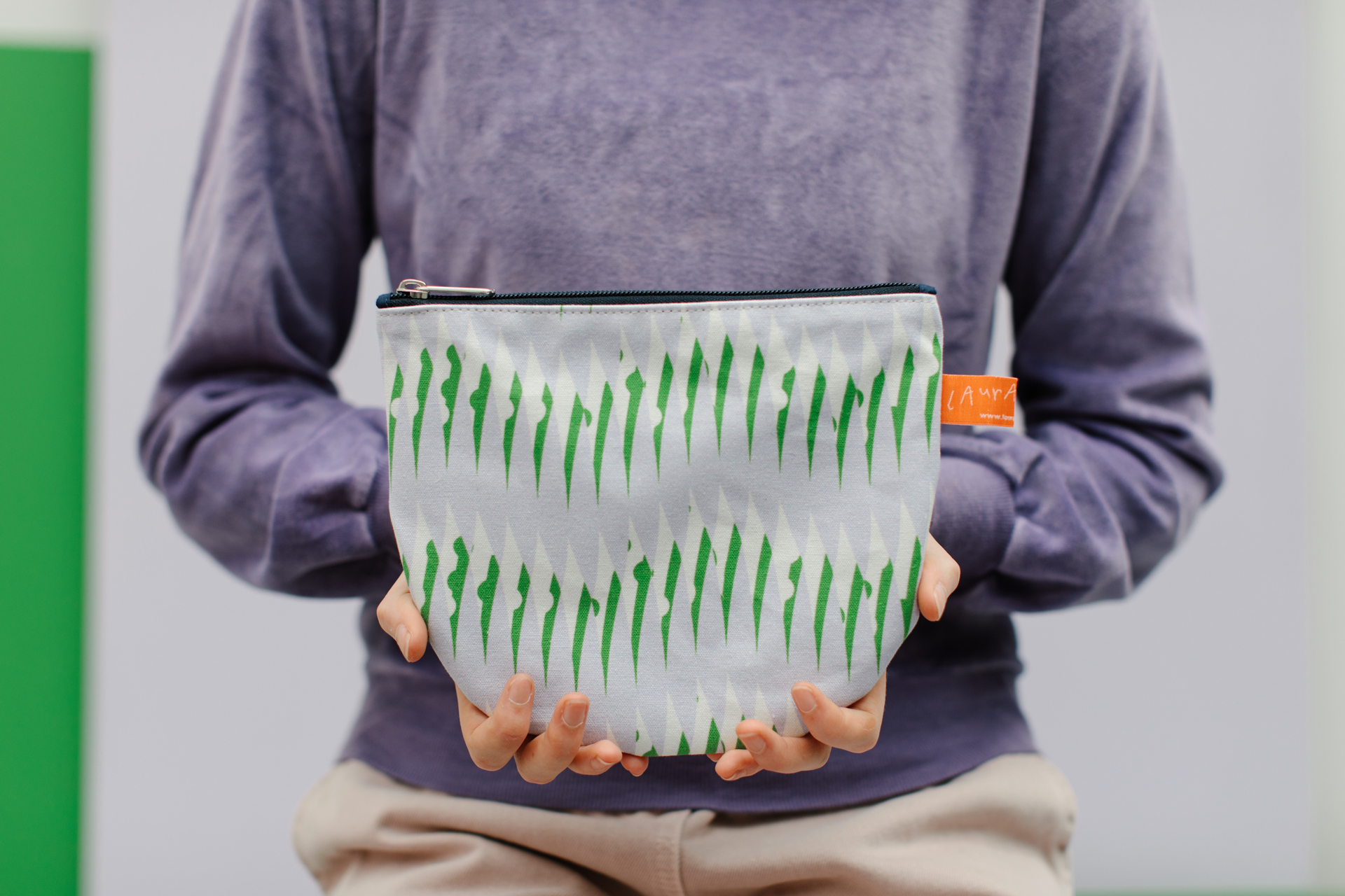 Peas Print Make Up Pouch