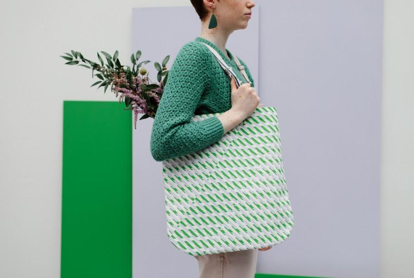 Laura Spring Conceal Tote Bag Purple & Green