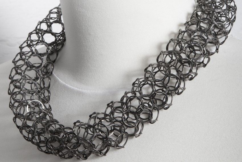Joanne Thompson Ervine Necklace Oxidised Silver