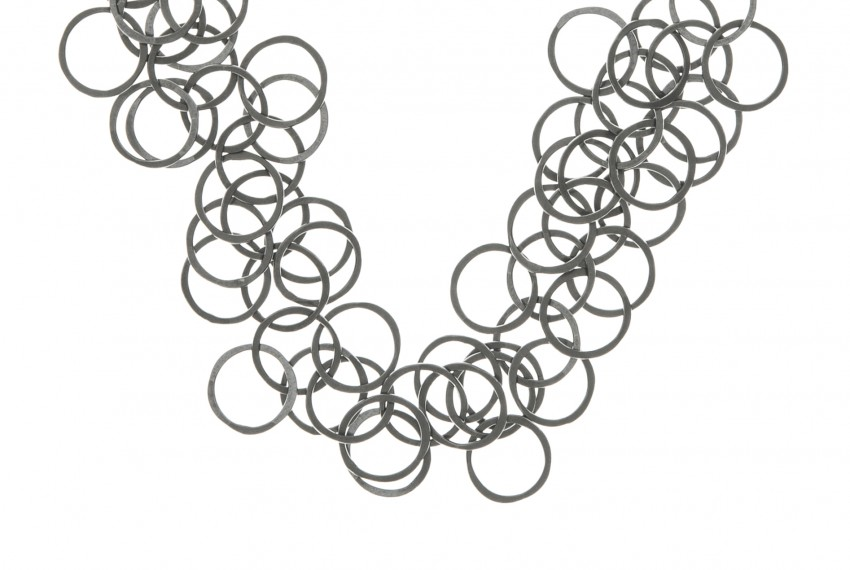 Joanne Thompson Bay Necklace Oxidised Silver