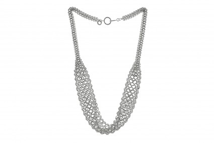 Joanne Thompson Leys Draping Chain Necklace Silver