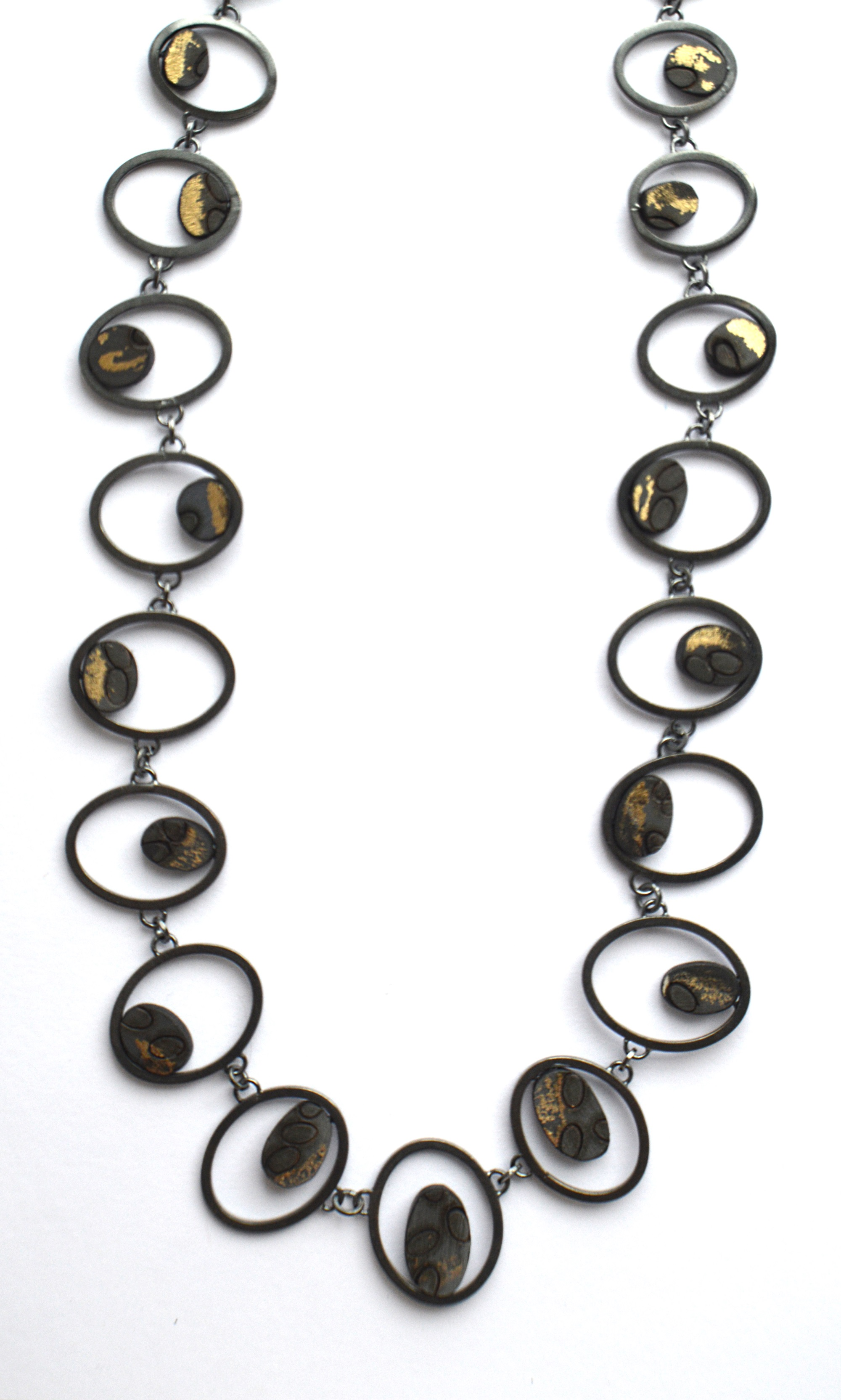 Oxidised link necklace