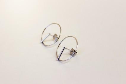 Ruth Leslie Circle Earrings Silver