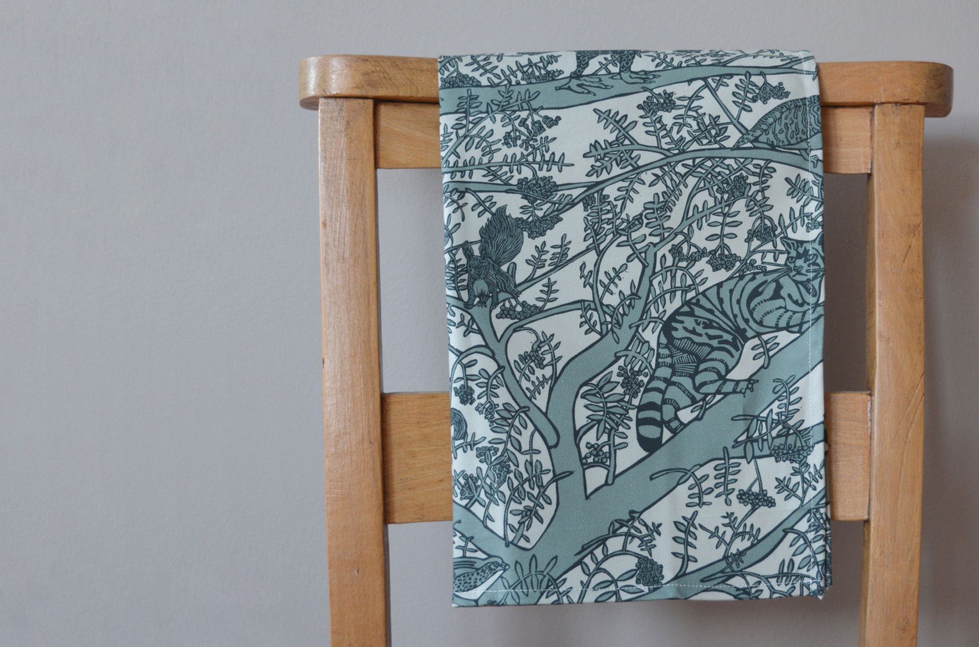 Endangered Animals Tea Towel