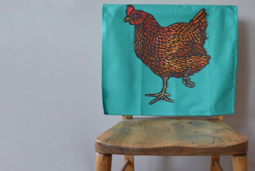 Litte Axe Hen Tea Towel