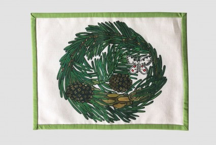 little axe scots pine table mat