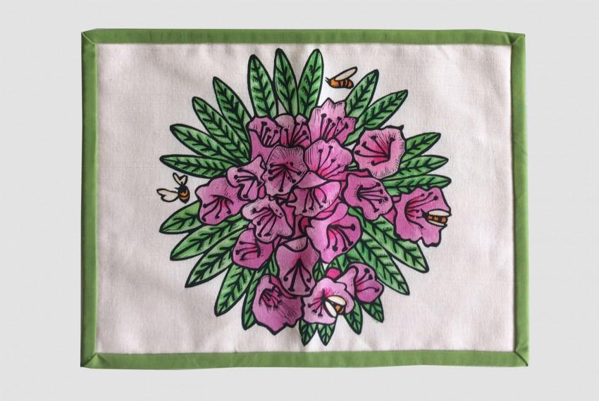 Little Axe Azalea Textile Place Mat