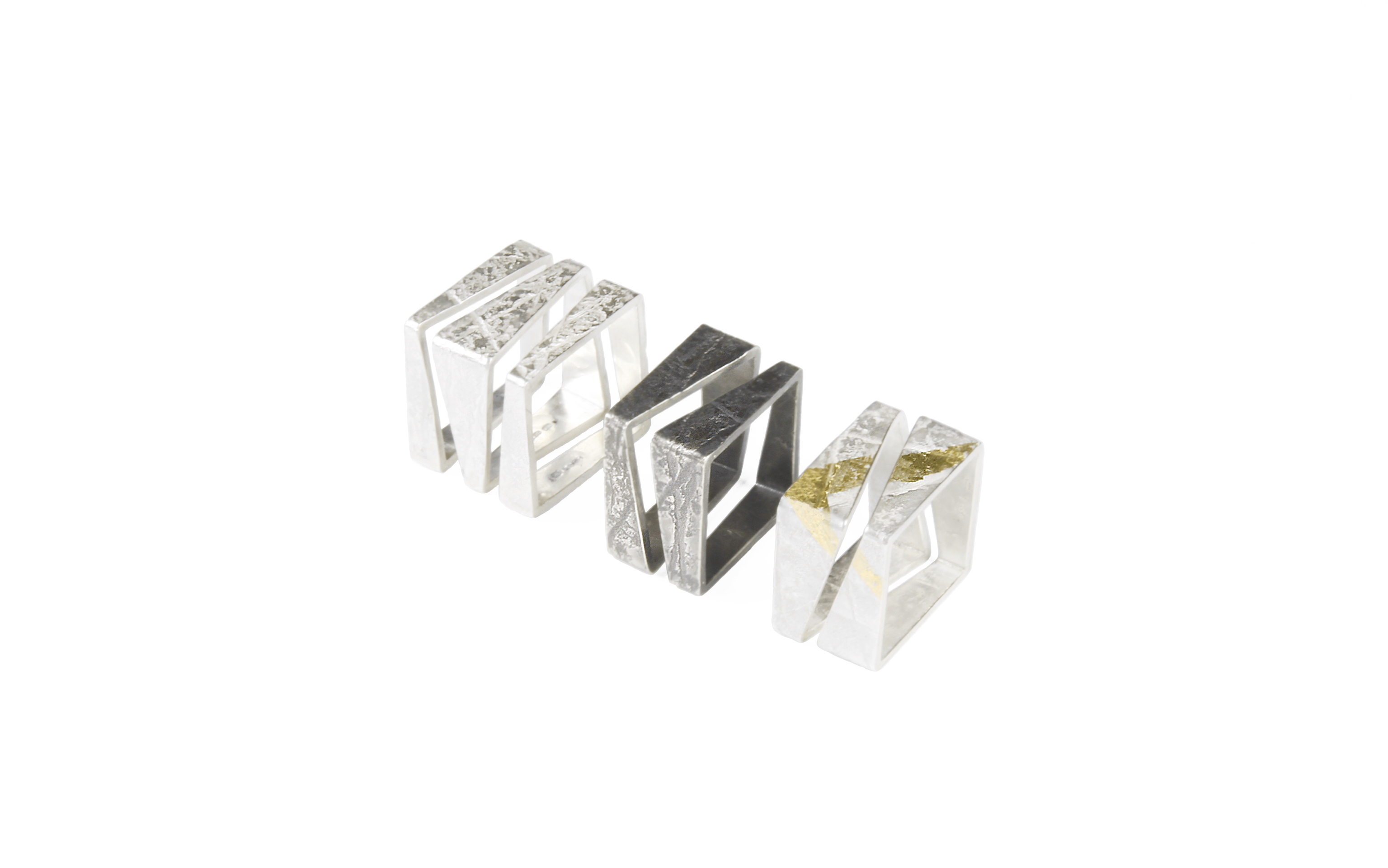 Neolith Square Stacking Rings