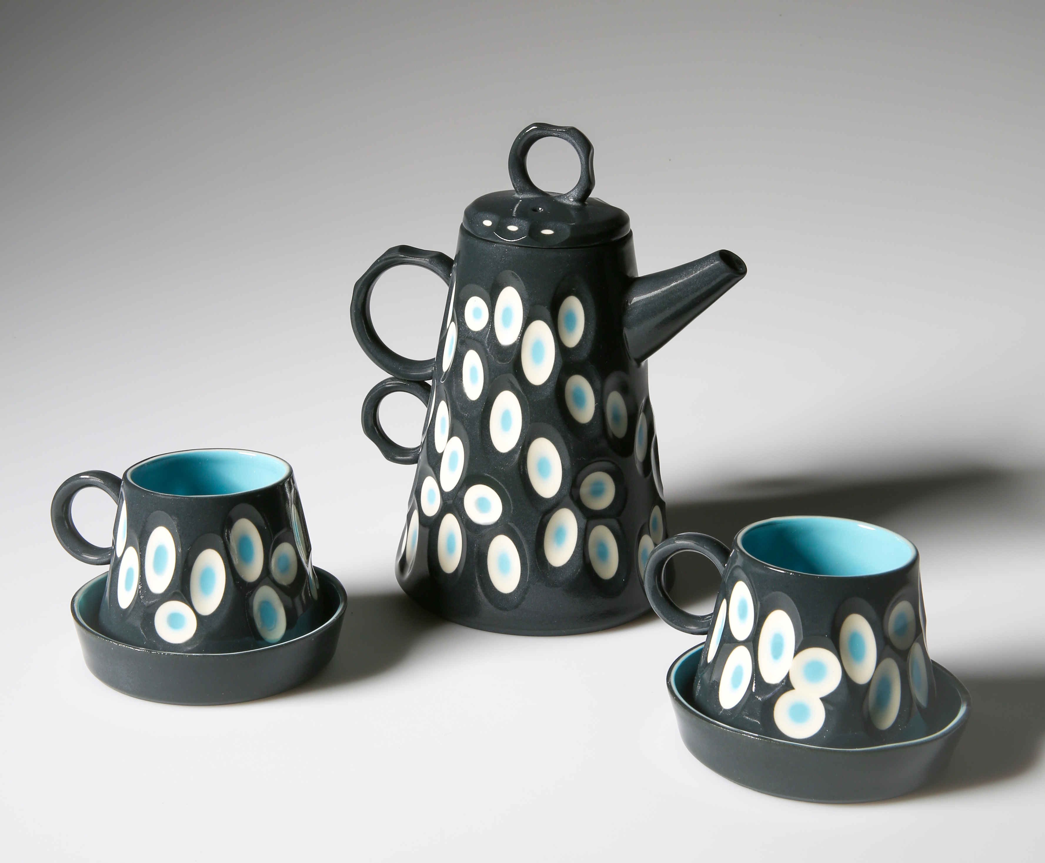 Battuto Multi-Layered Coloured Porcelain Coffee Set