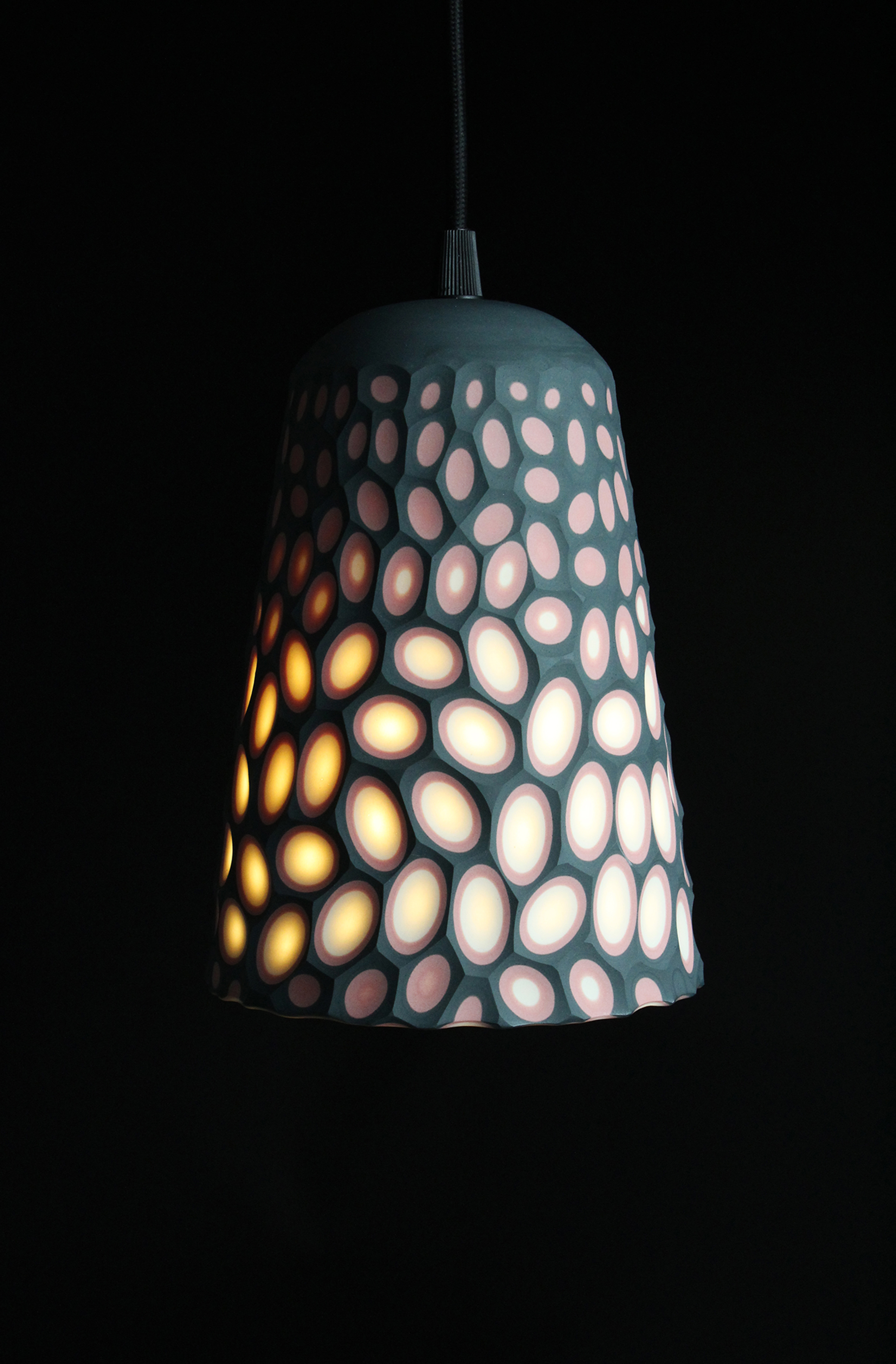 Battuto Multi-Layered Coloured Porcelain Pendant Lamp