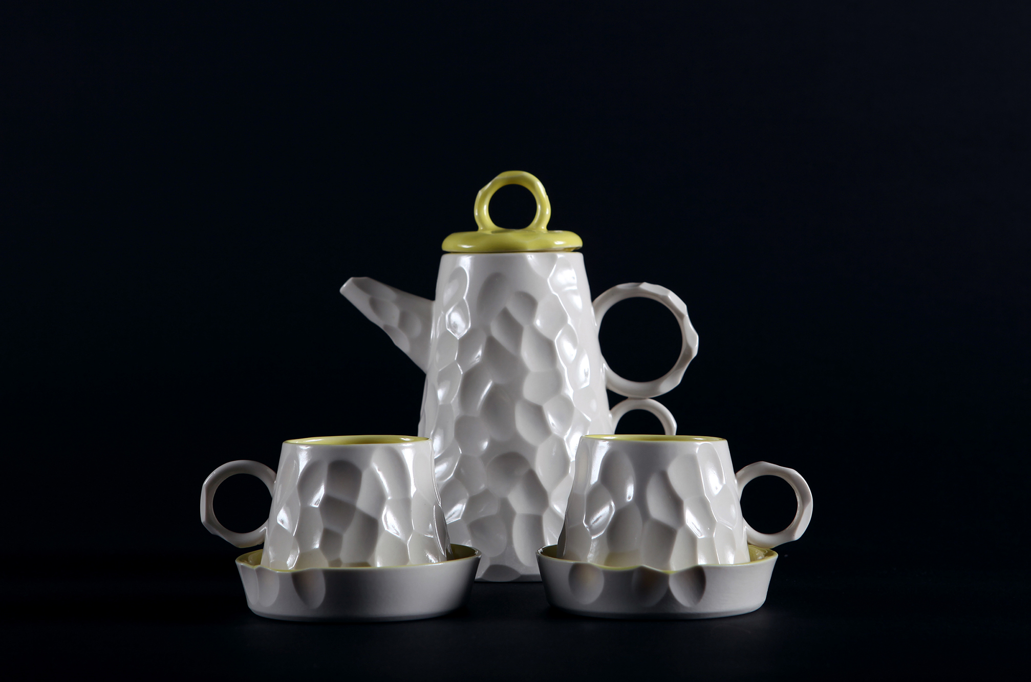 Battuto Porcelain Coffee Set