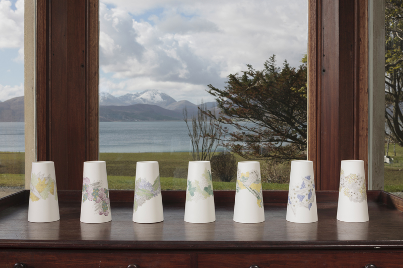 Atlas Edition: Patterns of Flora | Mapping Seven Raasay Habitats -  Parian Vase Set