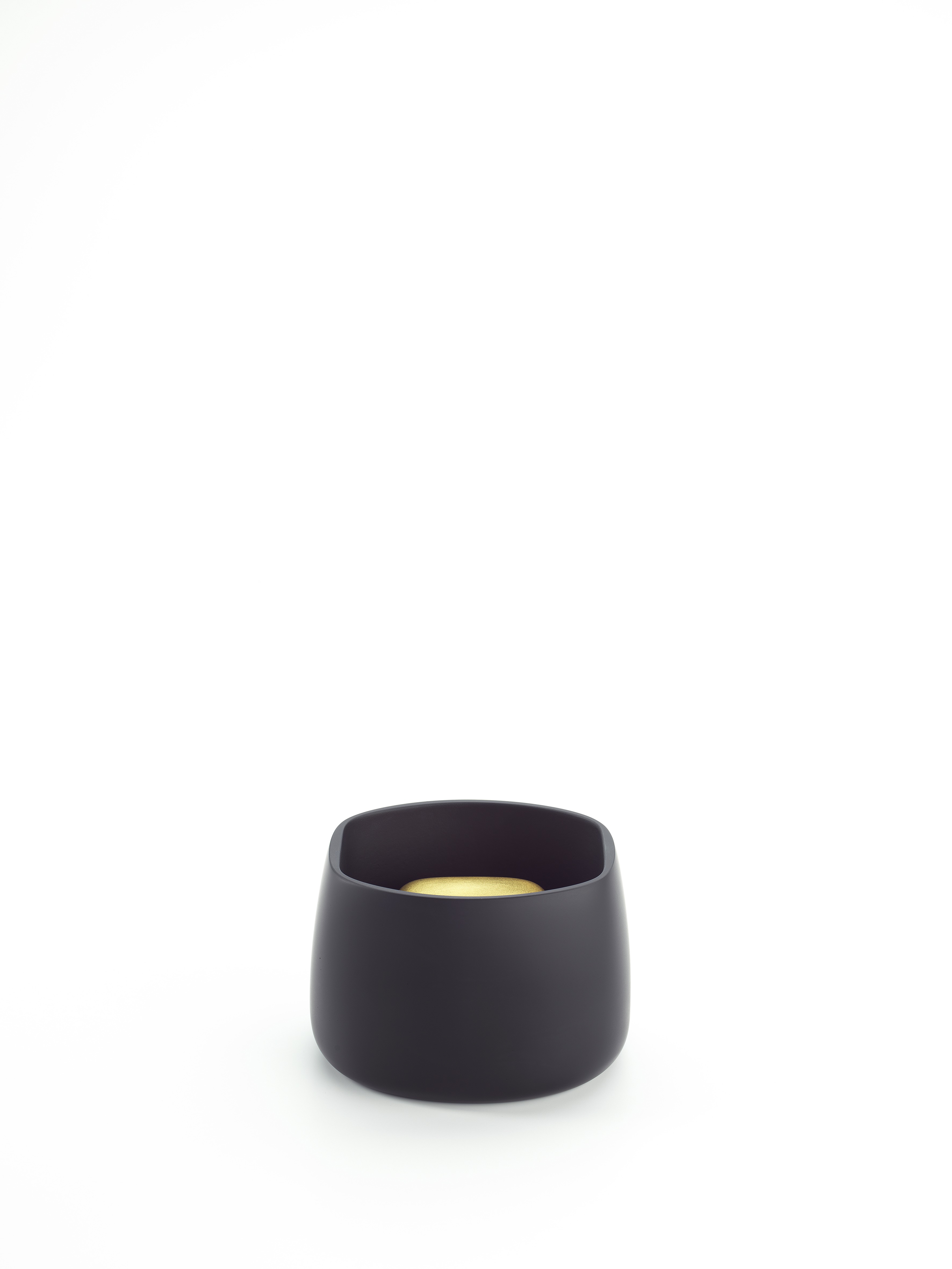 Contained Box (Soft Oval) - Black and Gold